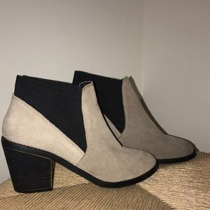 Shoes - Beige Ankle Booties